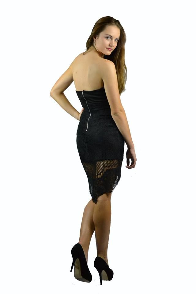 Gorgeous Lace Little Black Dress Strapless Exclusive to TLBDE.com Only $70 Including Express Shipping