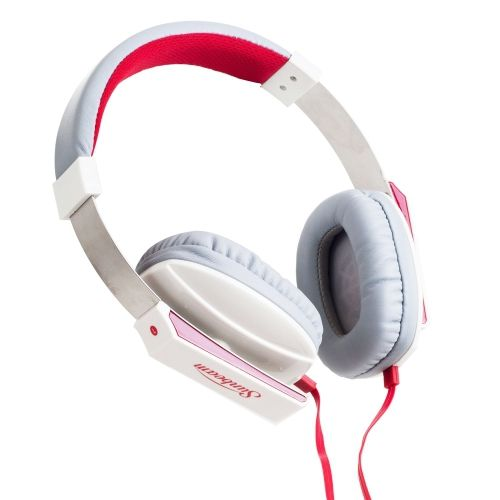Sunbeam Stereo Bass Headphones White with Built-in Mic - myaccessoryguy