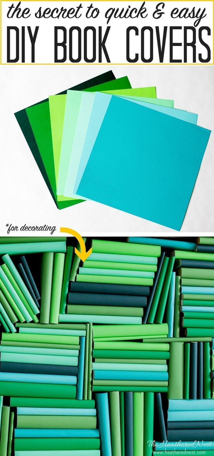 Insanely Easy Diy Book Cover Tutorial Adds Color In Minutes Book Cover Diy Diy Book Diy Book Covers Design