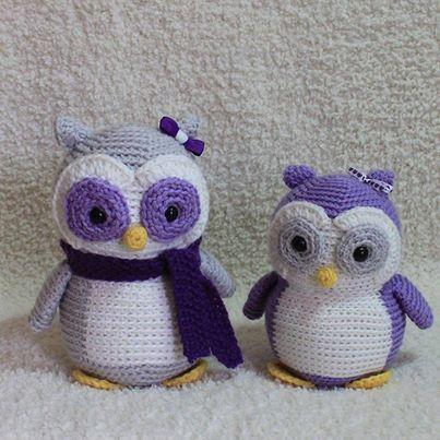 Cute owls! <3 Pattern: http://www.freshstitches.com/owl/