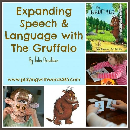 "The Gruffalo: Activities for Speech & Language {Virtual Book Club For Kids} from ""playing with words 365"" Pinned by SOS Inc. Resources http://pinterest.com/sostherapy."