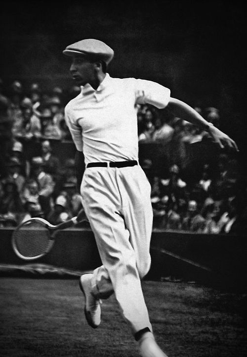 Black and white vintage picture of the legendary tennis player René Lacoste. © Lacoste Archives