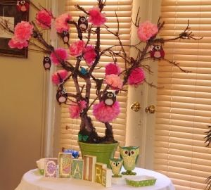 25 best ideas about owl centerpieces on pinterest owl for Baby shower tree decoration