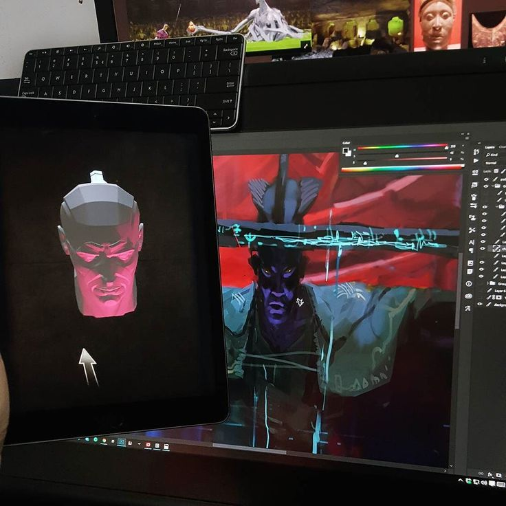 So techlonology. Much digital. Wow.  BTW Check Handy Art Reference Tool for iPad. Cool little thingy helping figure out head hand and foot anatomy.  #artursadlos #keyframe #art #reference #tool #app #ipad #workspace #me #wip #process