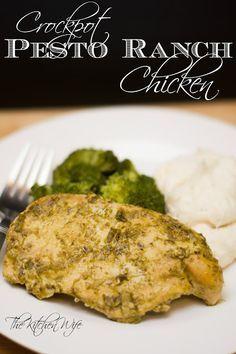 Crockpot Pesto Ranch Chicken Recipe