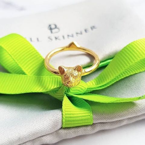 ✨:: Another fab shot from the lovelies ladies at @thestylerawr of our Cat ring :: 😻💚✨  .  .  .  #BillSkinner #cats #catsofinstagram #kittens #catlovers #fashionlovers #greenbow #stilllifephotography #jewellerylovers #welovecats #handcarved #jewellerydesign #jewellerydesigner 📷 @thestylerawr