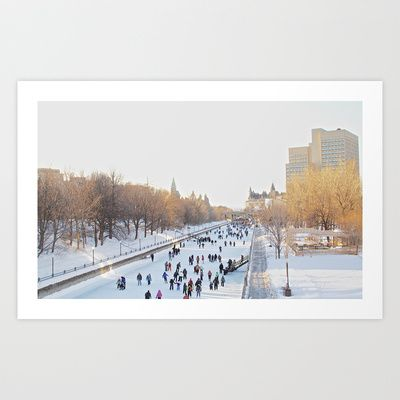 Canada's Rideau Canal Art Print by BluFyre Productions - $18.00