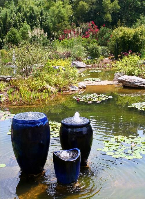 17 best images about water fountains on pinterest faux for Pond features and fountains