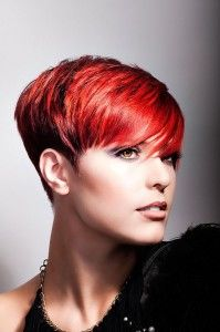 Very wild haircolors for short hair!