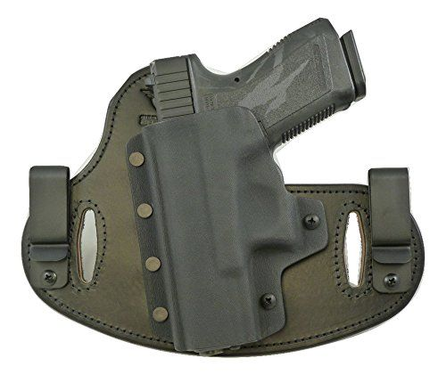 Hidden Hybrid Holsters Glock 19233238  Black Kydex Black Leather LH Draw -- You can find out more details at the link of the image.