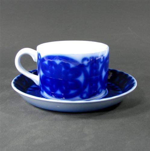 Lovely Gustavsberg Blå Husar cup & saucer designed by Stig Lindberg