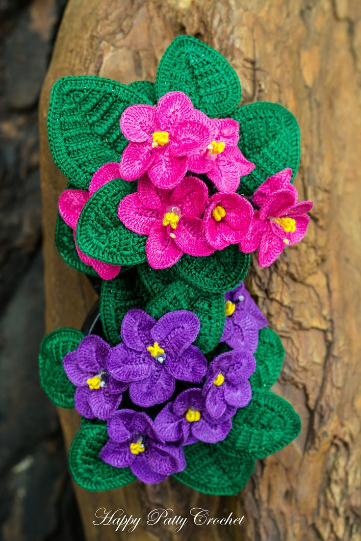 African Violet Pattern By Happy Patty Crochet