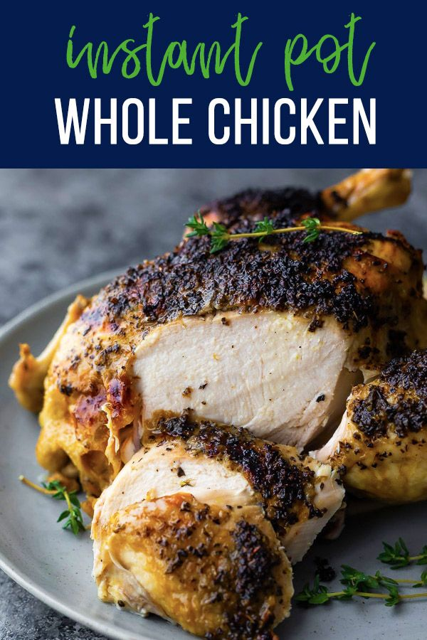 How Long To Cook Frozen Chicken Breast In Instant Pot Instant Pot Whole Chicken Recipe With Images Instant Pot Recipes Chicken Instant Pot Recipes Cooking Frozen Chicken