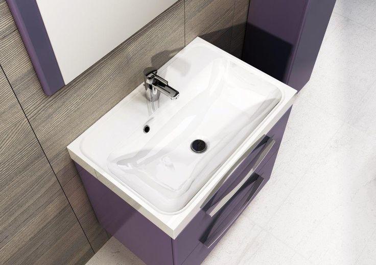 Umywalka konglomeratowa/Acrylic washbasin Kwadro 60. #elita #meble #lazienka #jump #bathroom #furniture #colorful #washbasin