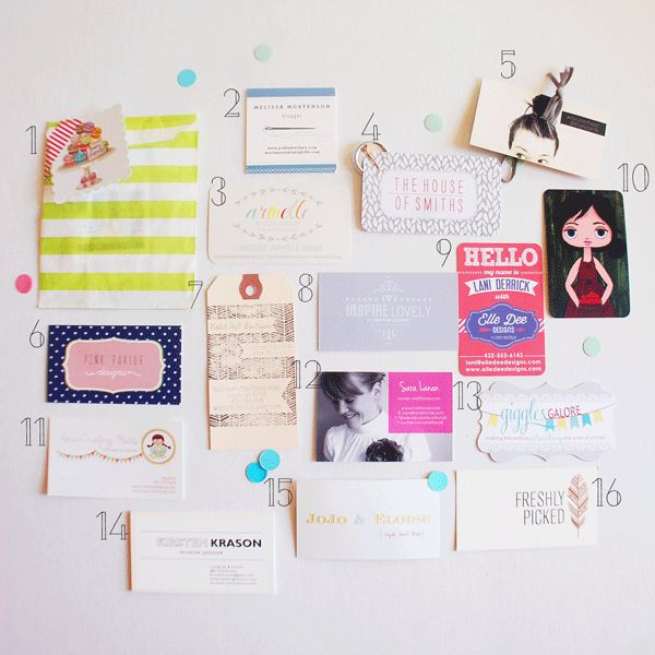 some favorite business cards from SNAP a blogger conference via From Me, With Love BLOG