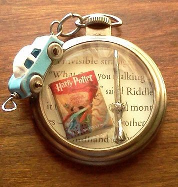 Harry Potter and the Chamber Of Secrets Pocket Watch Themed Pendant Necklace
