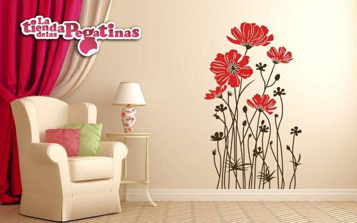32 best images about vinilos florales on pinterest for Vinilo techo habitacion