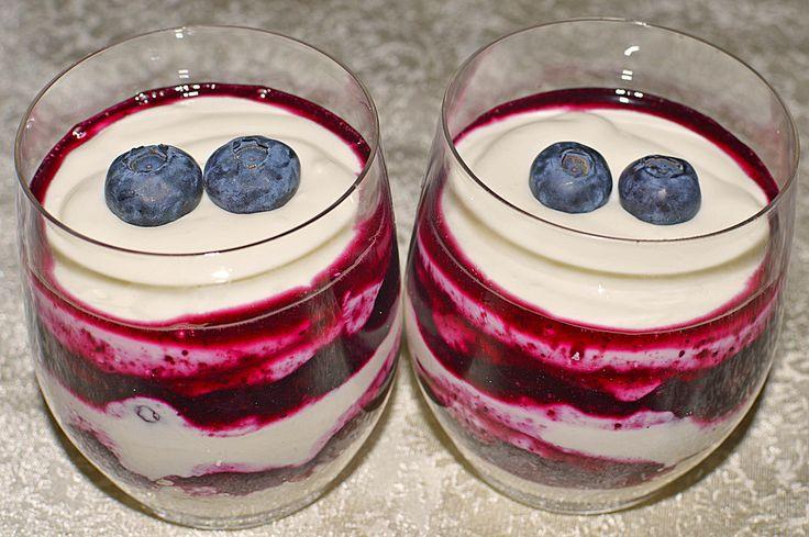 Heidelbeer-Mascarpone Dessert