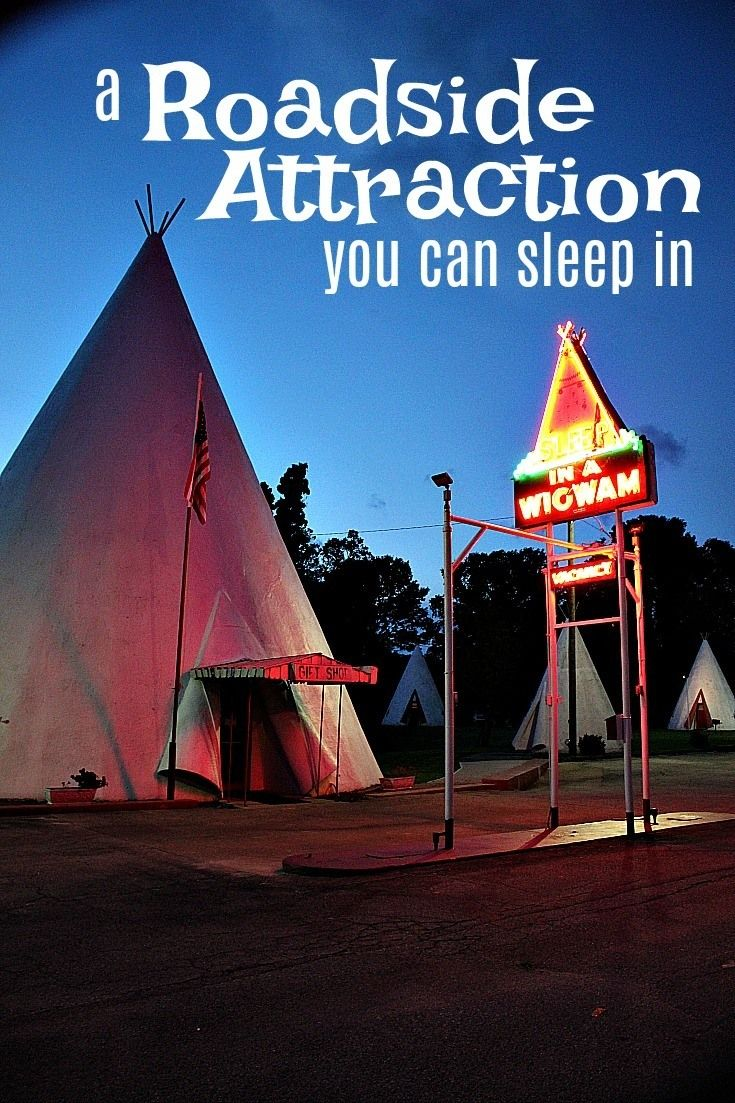 Spend a night in this ultra-retro wigwam motel- one of three remaining teepee motels in the United States.