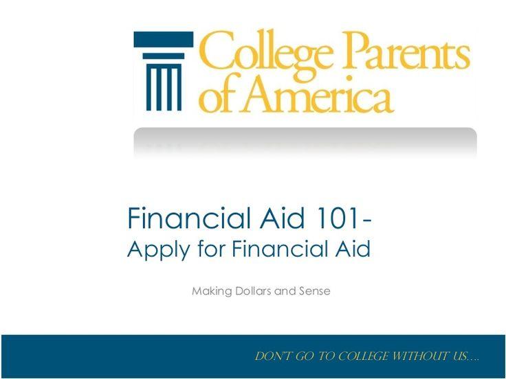 Financial aid 101 Apply for Financial Aid #college #financialaid #money