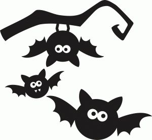 halloween silhouette bats