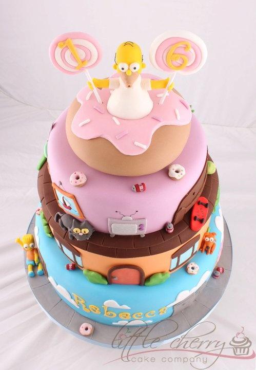 Homer Simpson Cake