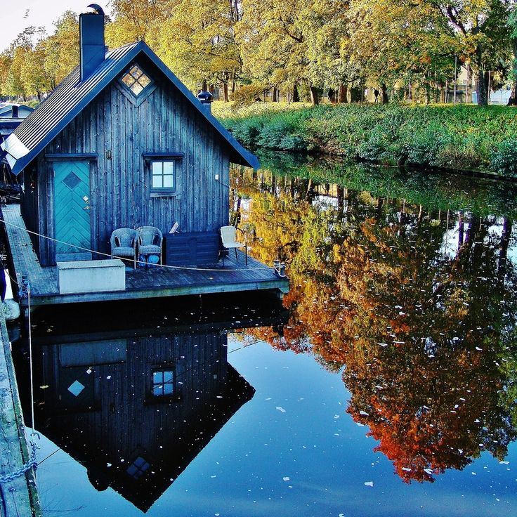 """500px / Photo """"Holiday cottage on the River Fyris in Uppsala Sweden"""" by Pyry Luminen"""