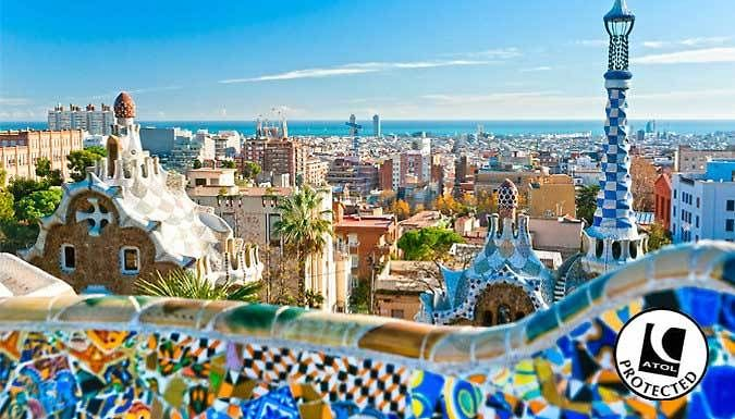 Barcelona, Spain: 2-3 Nights With Hotel and Flights - Save up to 43% Soak up the sun, colourful buildings and vibrant nightlife with a fun-filled 2 or 3 night break in buzzing Barcelona, Spain      Choice of hotel and departure airports      Appreciate Guadi's architectural delights at the Sagrada Familia      Why not also explore Putxet Gardens and the epic Magic Fountain of Montjuic?     ...