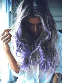 bright purple highlights in brown hair - Google Search