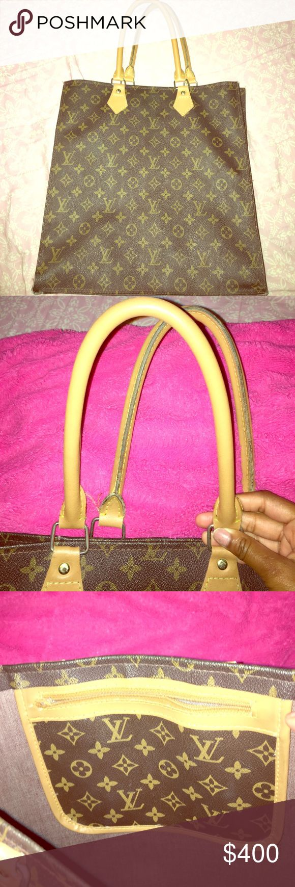 Vintage Louis Vuitton Tote Vintage Louis Vuitton Tote lightly used. Belonged to my grandmother and she passed it down to me and I never use it. Inside zipper is broken along with normal wear and tear so I'm willing to negotiate. Louis Vuitton Bags Totes