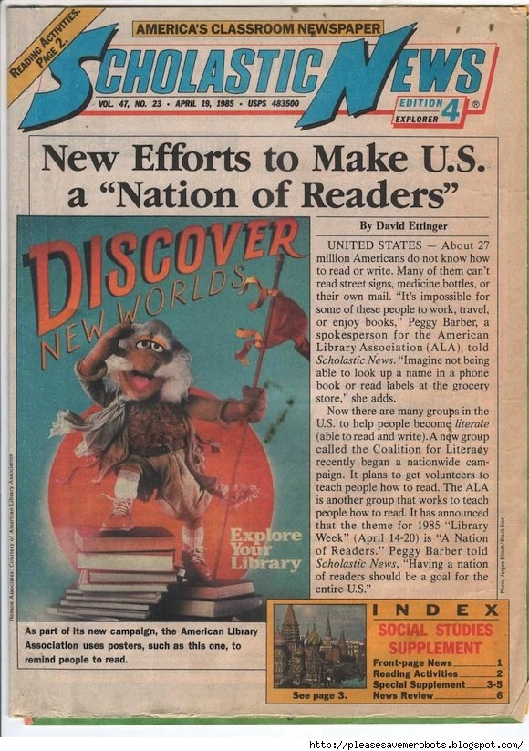 Scholastic News from the 80s