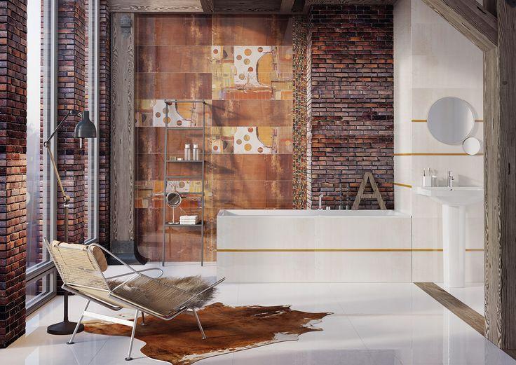 glazed ceramic tiles Impressive, 90x30 cm. Artistic inspirations, big size and original decor!