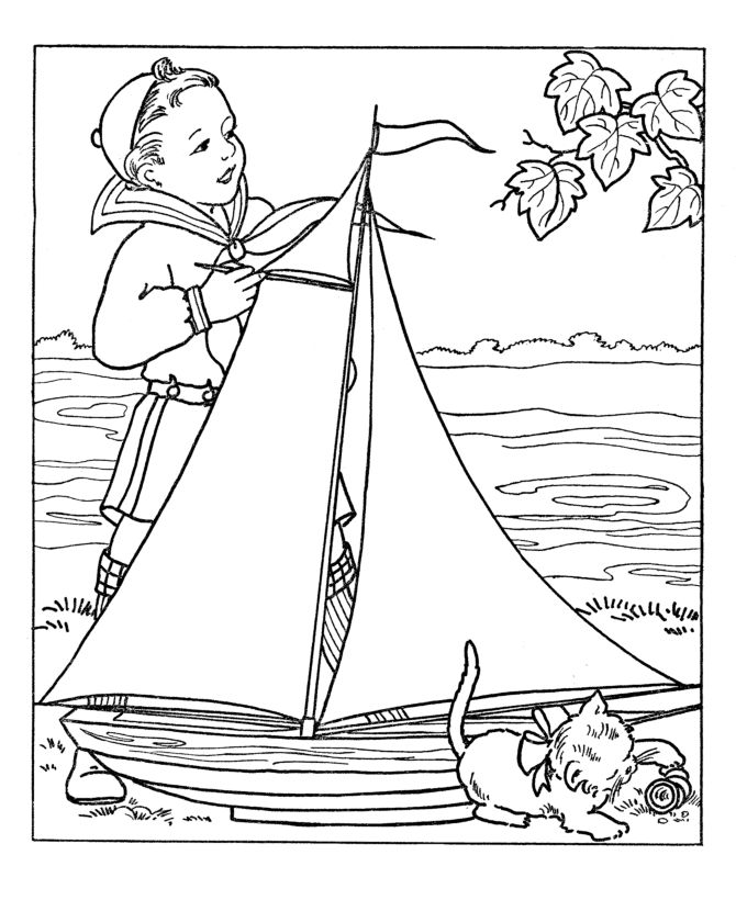 boy summer coloring pages - photo#30