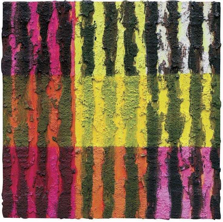 Leon Tarasewicz | <i>BEZ TYTUŁU, 2003</i> | tynk akrylowy, płyta | 50 x 50 cm