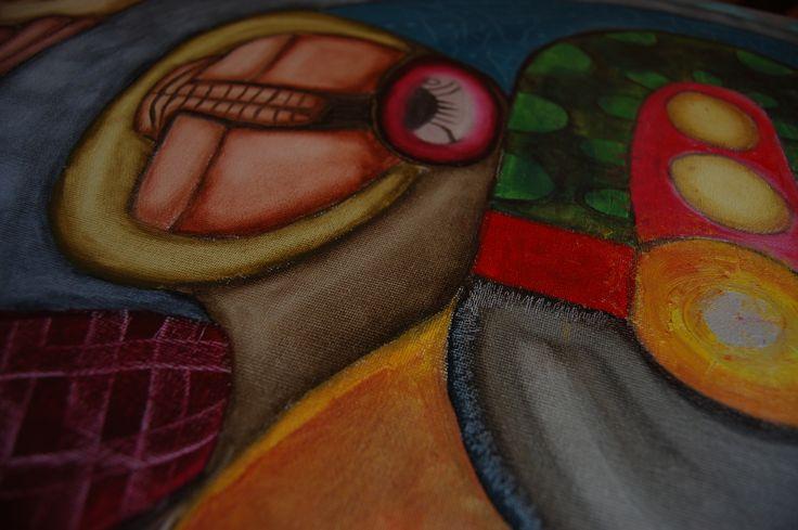 """2014, Detalle de """"El músico"""""""