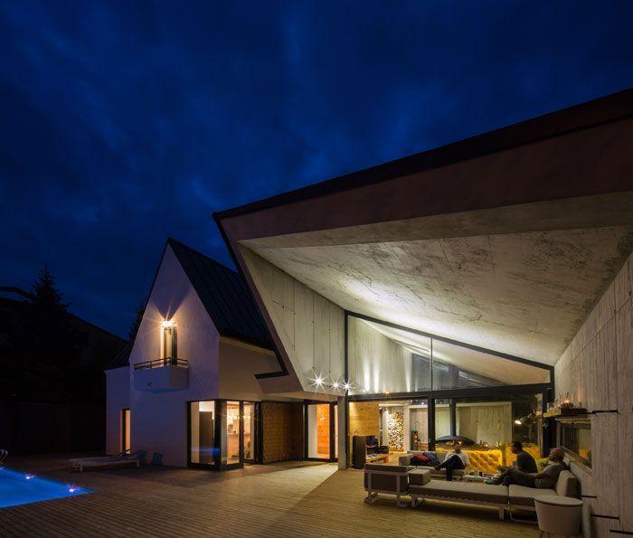 Romanian house, industrial style, concrete