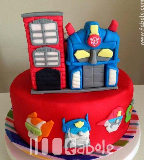 Rescue bots cake