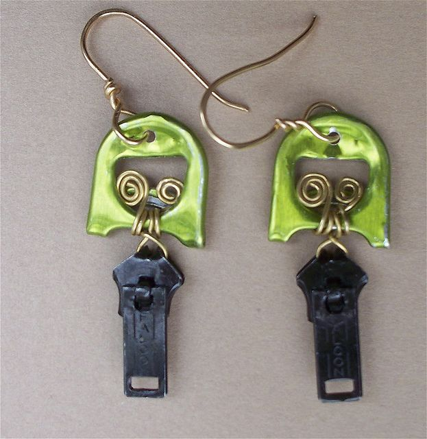 Double Pull Upcycled Pull Tab Earrings by Junksmith, via Flickr