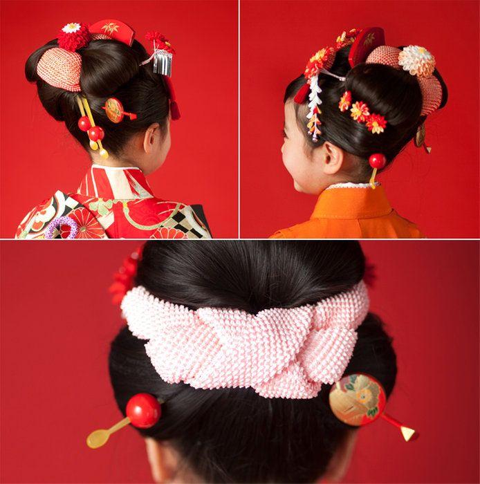 赤蒔絵前櫛平打ちかんざし二点セット【七五三】【成人式】【結婚式】【日本髪】