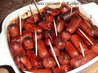 Les plats cuisinés de Esther B: Saucisses cocktail à l'érable