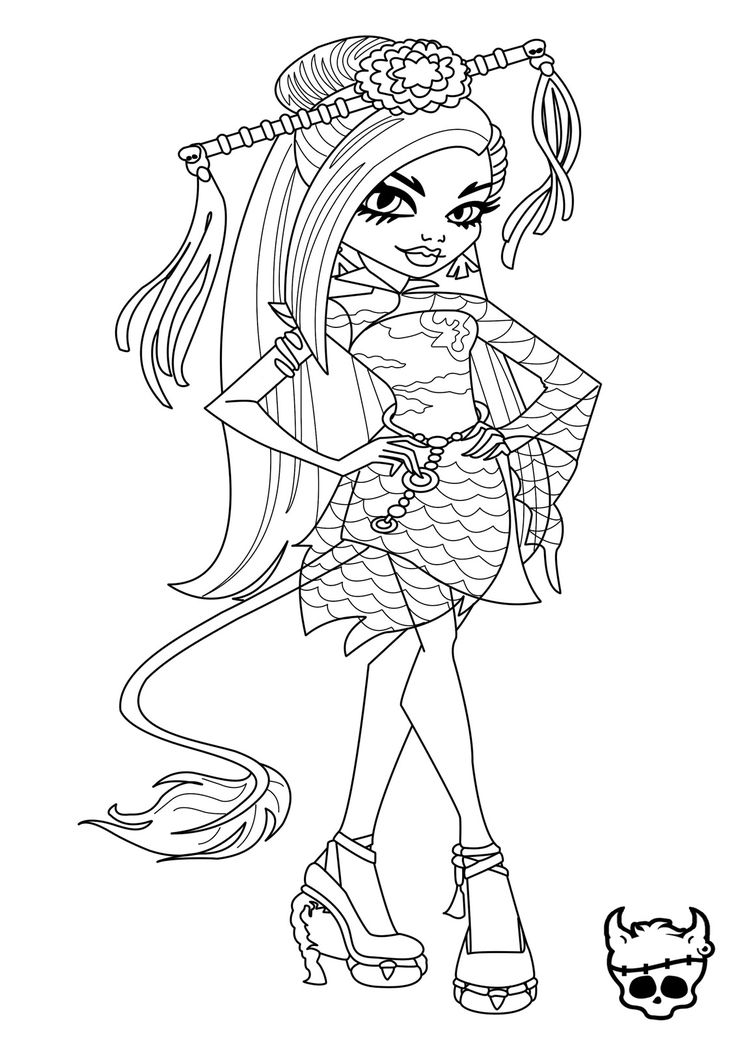 36 best coloring pages images on pinterest | adult coloring ... - Monster High Dolls Coloring Pages
