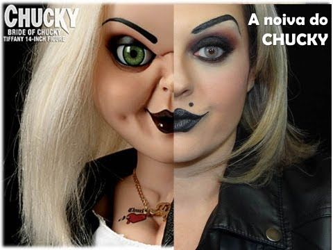 HALLOWEEN: Bride of Chucky / Tiffany Makeup Tutorial | shlemonade - YouTube