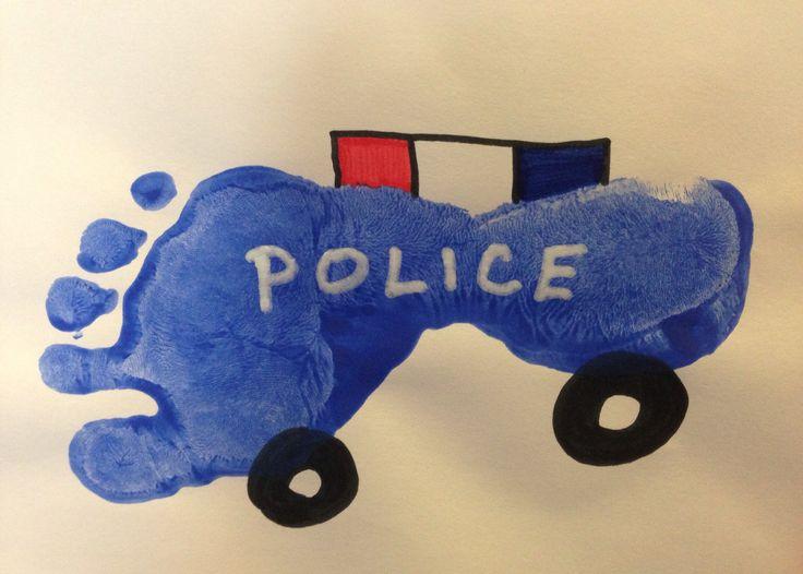 Footprint police car