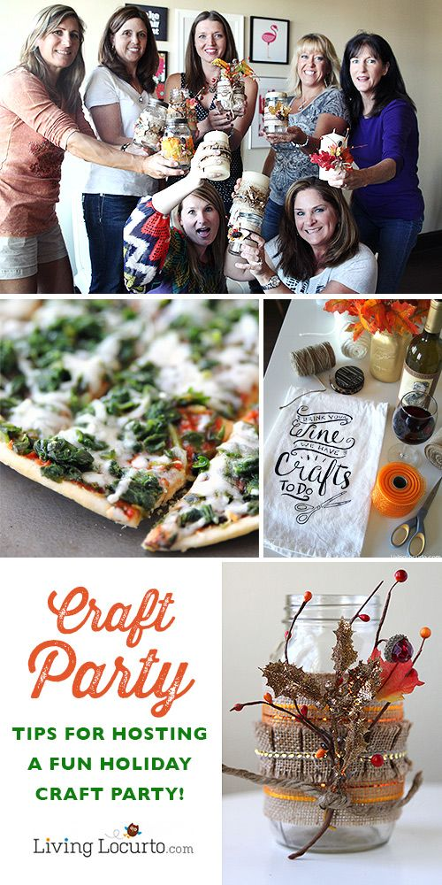 How to Host a Successful Holiday Craft Party! Invite friends over for fun crafts, food and drinks. Make DIY gifts to give during the Holidays. LivingLocurto.com