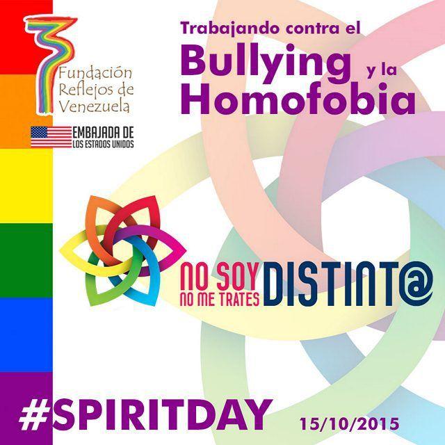 Proyecto #nosoydistinto #nometratesdistinto  Fundación Reflejos de Venezuela #spiritday #glaad