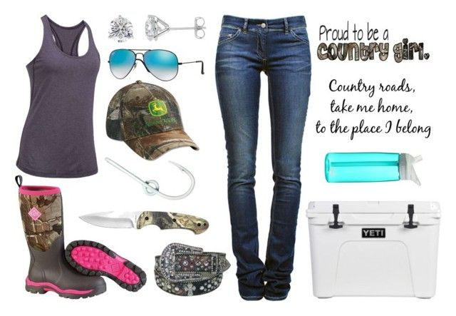 """""""I Really Want To Go Fishing!!!!"""" by im-a-jeans-and-boots-kinda-girl on Polyvore featuring Muck Boots, Under Armour, Étoile Isabel Marant, Ray-Ban, John Deere, CamelBak and WALL"""