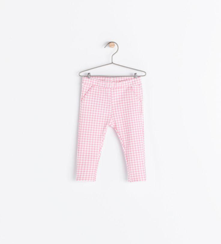 Pantalon imprimé rose moyen Zara bébé fille