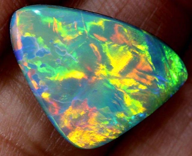 4.75 CTS DOUBLET OPAL STONE  TBO-3797 opal doublet , australian doublet opal, opal