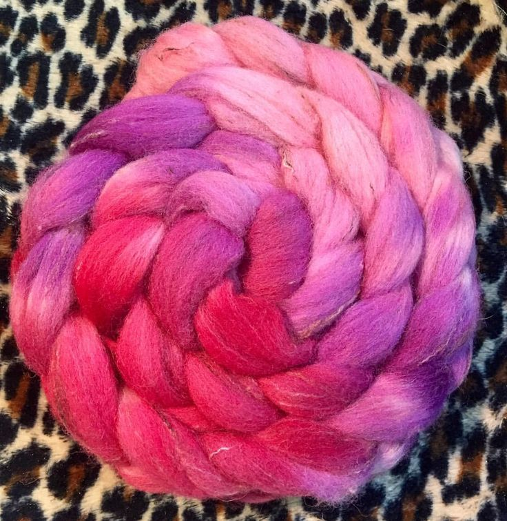 """33 Likes, 1 Comments - Medusa (@medusas_handmade) on Instagram: """"Lucky last for today... #pretty in the #pink zone. Hand dyed, beautiful braids of 95% wool, 5%…"""""""