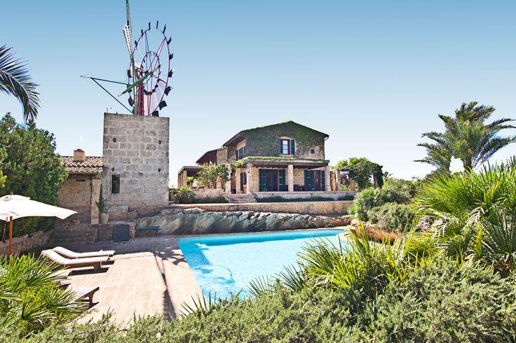 Casas Rurales Mallorca - Inmobiliaria Nova - Ref. 87013  Finca reformada con molino en Colonia de Sant Jordi, Mallorca. De hermosa zona ajardinada con piscina, en entorno tranquilo. Cerca de la playa.  http://www.inmonova.com/es/property/id/662696-finca-colonia-de-sant-jordi  http://www.inmonova.com/es  #casas #rurales #mallorca #inmobiliaria #nova
